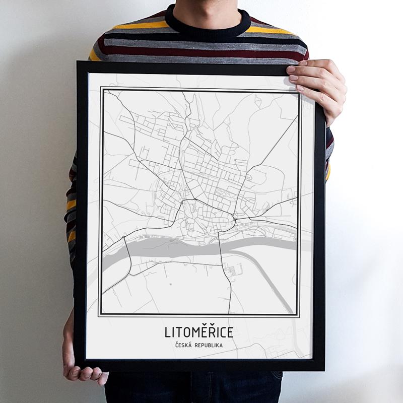 Plakat Mapa Mesta Litomerice Jsps Design