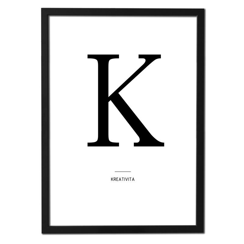 Plakát písmeno – K (kreativita)