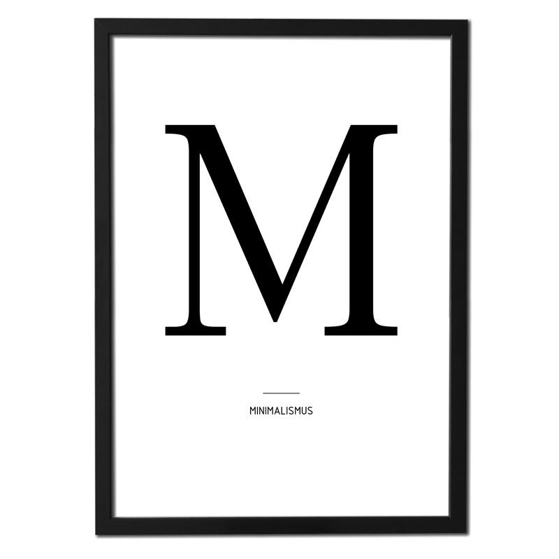 Plakát písmeno – M (minimalismus)