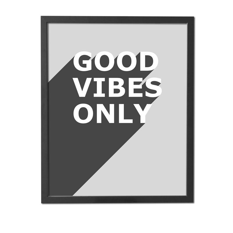 Plakát – Good Vibes Only